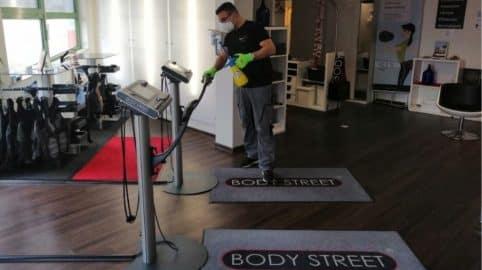 Hohe Hygienestandards in Fitnessstudios von Bodystreet